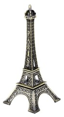SiCoHome Metal Eiffel Tower Statue Figurine Replica Centerpiece Room Table Decor Jewelry Stand Holder French Souvenir Gift From Paris, France (18cm)