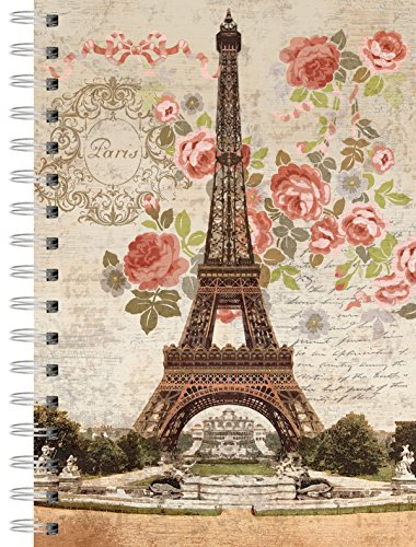 Lang - Perfect Timing Dreaming Of Paris Spiral Journal by Suzanne Nicoll, 6 x 8.25, 240 Ruled Pages (1350011)