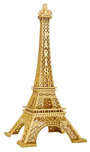 SiCoHome Eiffel Tower 7.0inch Gold Cake Topper,Figurine Replica Centerpiece Room Table Decor French Souvenir Gift From Paris, France,for Father's Day Gifts,Party And House Decoration