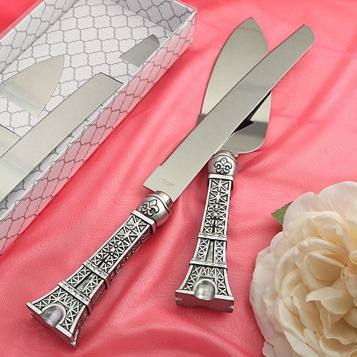 When It Comes Time To Cut The Cake At Your Paris Themed Wedding Reception You Want A Serving Set That Is Personified Like This Exceptional
