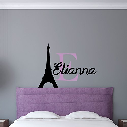 Handcrafted Personalized Paris Eiffel Tower Wall Decal - Wall decals eiffel tower