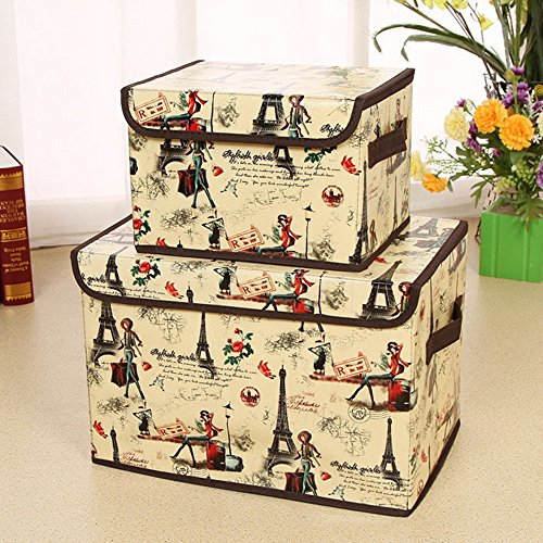 sc 1 st  Paris Themed Gifts & Beautiful Paris Travel Themed (Set Of 2) Storage Boxes Aboutintivar.Com