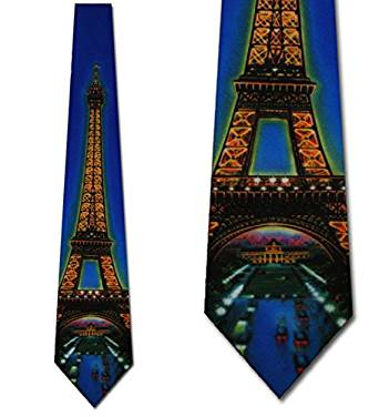 Elegant Paris themed tie for men