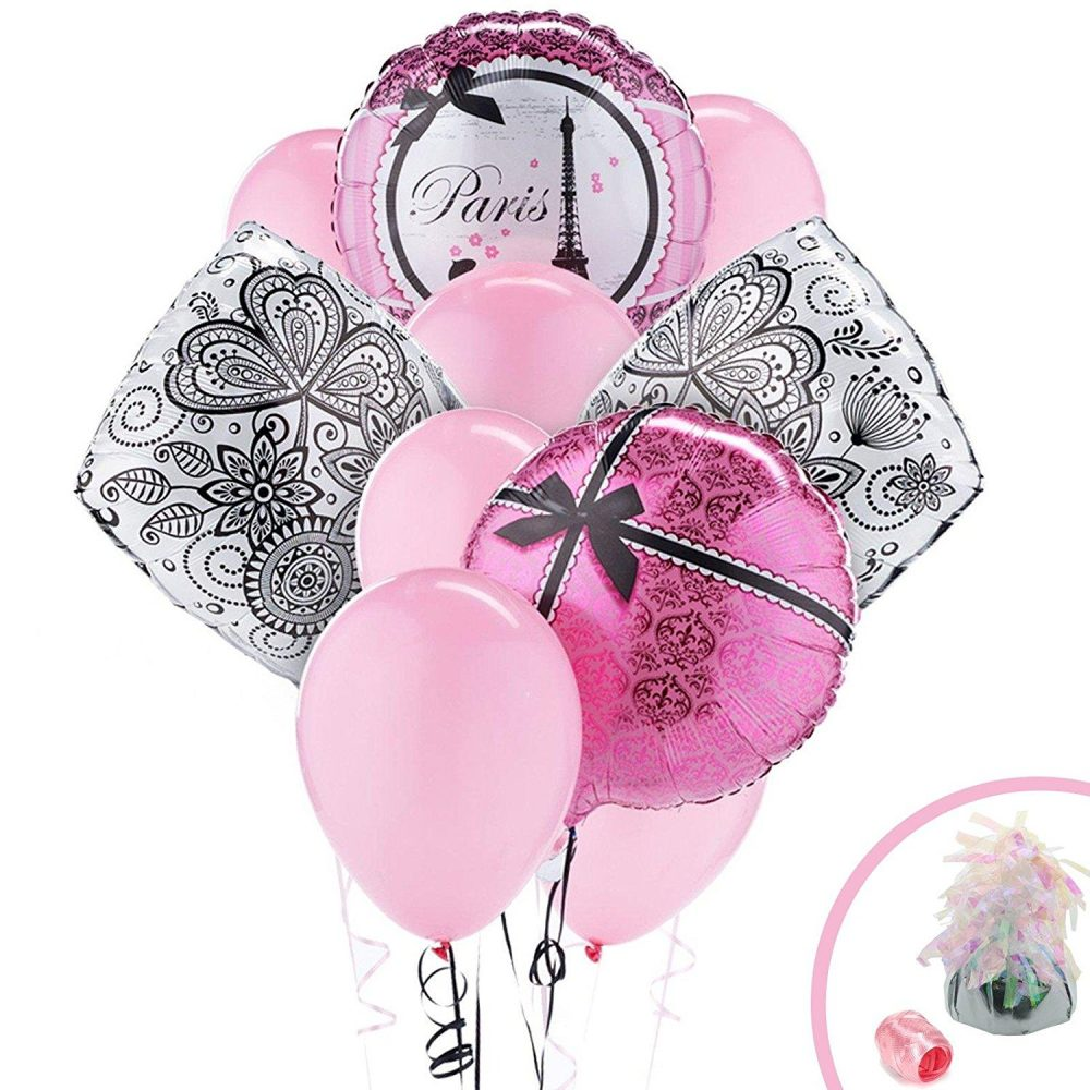 Beautiful Paris theme party balloon bouquet