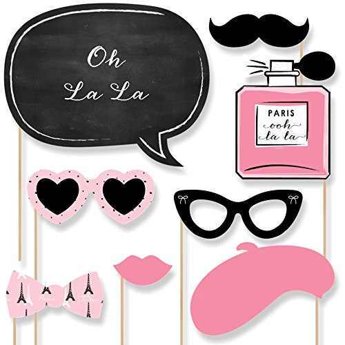 paris themed party photo booth props