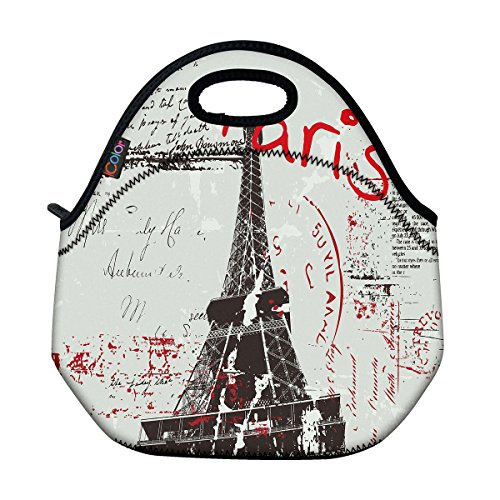 Paris Themed Lunchbag For School, Work
