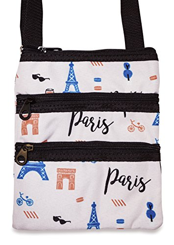 Eiffel Tower, Bicycles Themed Cross-Body Bag For Girls