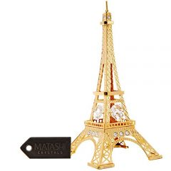 Paris, Eiffel Tower 24K Gold Plated, Crystals Collectible