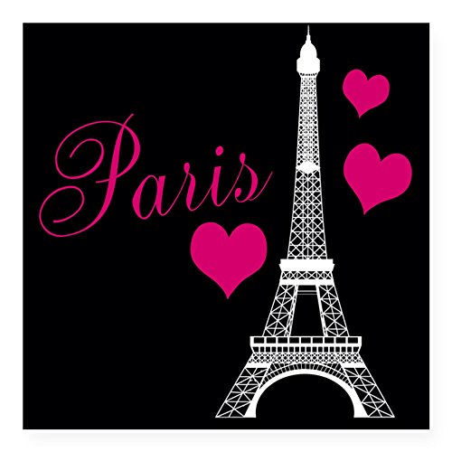 Romantic Eiffel Tower Car Bumper Sticker